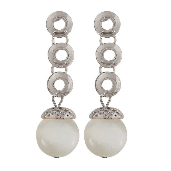 Class White Silver Designer Party Drop Earrings - MCHUJE26FB891