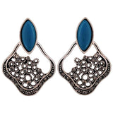 Stunning Blue Silver Designer Casualwear Chand Bali Earrings - MCHUJE26FB899