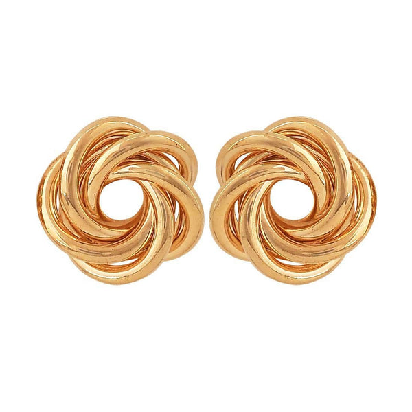 Suave Gold Designer Party Stud Earrings - MCHUJE26FB921