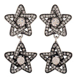 Fab Silver Stone Crystals Casualwear Drop Earrings - MCHUJE26FB949
