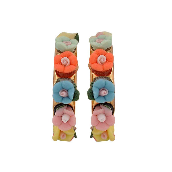 Lively Multicolour Designer Party Drop Earrings - MCHUJE26FB961
