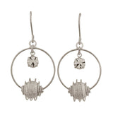 Unique Silver Designer Cocktail Dangler Earrings - MCHUJE12JL45