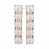 Fabulous White Pearl Cocktail Drop Earrings - MCHUJE12JL48