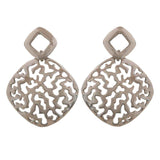 Fab Silver Filigree College Drop Earrings - MCHUJE12JL103