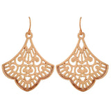 Pretty Gold Filigree Cocktail Dangler Earrings - MCHUJE12JL108
