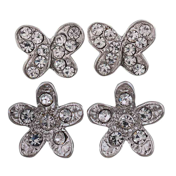 Sexy Silver Stone Crystals Dailywear Stud Earrings - MCHUJE12JL140