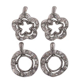 Modern Silver Stone Crystals Office Stud Earrings - MCHUJE12JL145