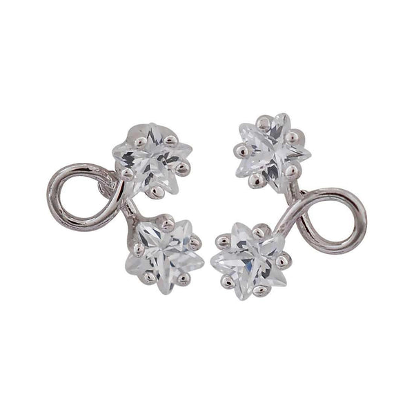 Fantastic Silver American Diamond Office Stud Earrings - MCHUJE12JL184
