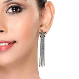 Class Grey Designer College Tassel Earrings - MCHUJE12JL190
