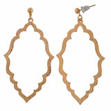 Lively Gold Designer College Drop Earrings - MCHUJE12JL265