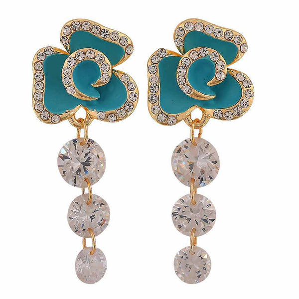 Awesome Blue Meenakari Cocktail Drop Earrings - MCHUJE12JL348