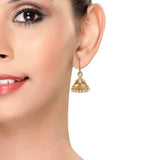 Classic White Gold Pearl Party Dangler Earrings - MCHUJE12JL481