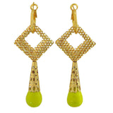 Modern Yellow Gold Filigree Sangeet Dangler Earrings - MCHUJE12JL492