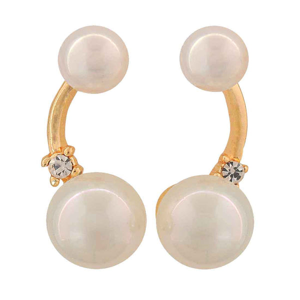 Classic White Pearl College Drop Earrings - MCHUJE4AG5