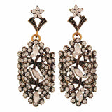 Beautiful Bronze Stone Crystals College Drop Earrings - MCHUJE4AG14