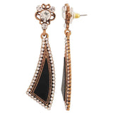 Cute Black Stone Crystals Cocktail Drop Earrings - MCHUJE4AG34
