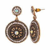 Plush Bronze Victorian Party Drop Earrings - MCHUJE4AG42