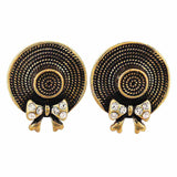Classic Gold Victorian Cocktail Stud Earrings - MCHUJE4AG58