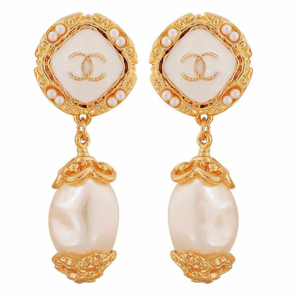 Victorian White Pearl College Drop Earrings - MCHUJE4AG92