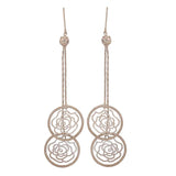 Plush Silver Filigree College Dangler Earrings - MCHUJE4AG95