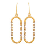 Victorian Gold Stone Crystals Cocktail Dangler Earrings - MCHUJE4AG120