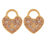 Trendy Gold Stone Crystals Party Stud Earrings - MCHUJE4AG125
