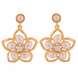 Dashing White Gold Pearl Party Drop Earrings - MCHUJE4AG131