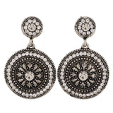Superb Silver Stone Crystals Party Drop Earrings - MCHUJE4AG134