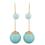 Sober Blue Designer Cocktail Drop Earrings - MCHUJE4AG147