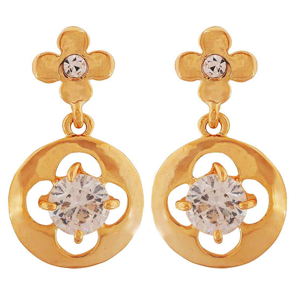 Adorable Gold American Diamond College Drop Earrings - MCHUJE4AG148