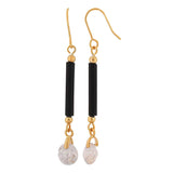 Sexy Black American Diamond Cocktail Dangler Earrings - MCHUJE4AG199