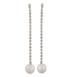 Amazing White Silver Designer College Drop Earrings - MCHUJE4AG208