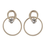 Great Silver Stone Crystals Casualwear Drop Earrings - MCHUJE4AG221