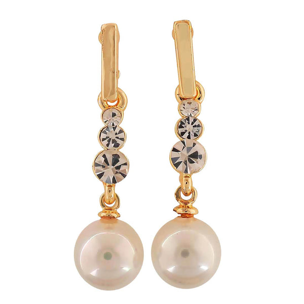 Sexy White Pearl College Drop Earrings - MCHUJE4AG226