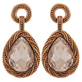 Fab Bronze Stone Crystals College Drop Earrings - MCHUJE4AG232