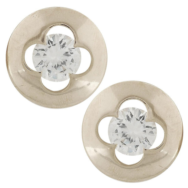 Exquisite Silver Stone Crystals Dailywear Stud Earrings - MCHUJE4AG245
