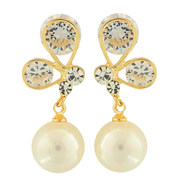 Exquisite White Stone Crystals Party Drop Earrings - MCHUJE4AG263