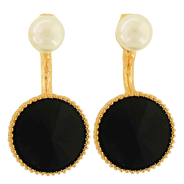 Amazing White Black Pearl Cocktail Drop Earrings - MCHUJE4AG292