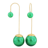Awesome Green Gold Designer College Dangler Earrings - MCHUJE4AG293