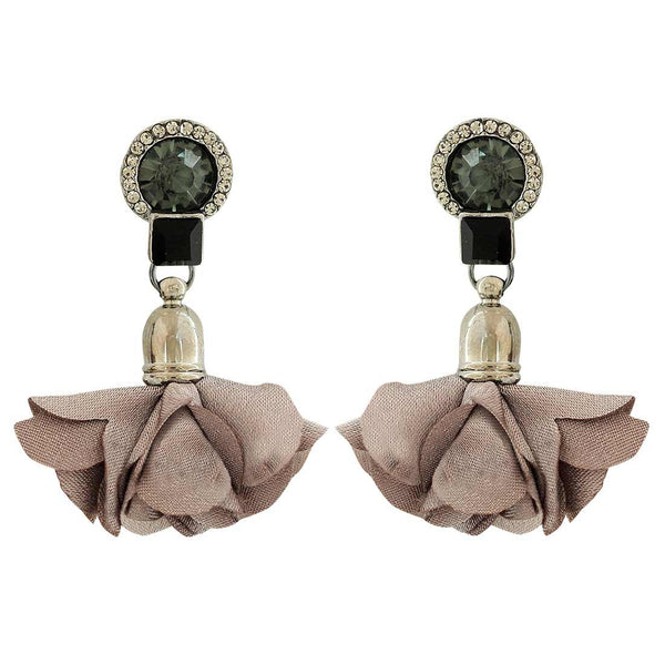 Elegant Grey Designer Party Drop Earrings - MCHUJE1OT3