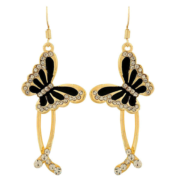 Artistic Black Designer Party Drop Earrings - MCHUJE1OT11