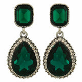 Posh Green Kundan Party Drop Earrings - MCHUJE1OT17
