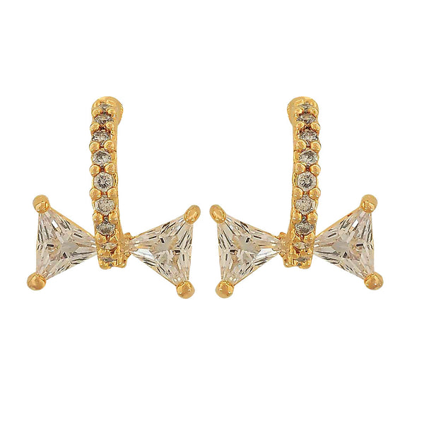 Superb Gold Stone Crystals Party Stud Earrings - MCHUJE1OT25