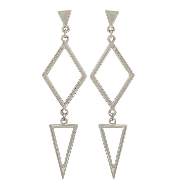 Charming Silver Designer Party Drop Earrings - MCHUJE1OT26