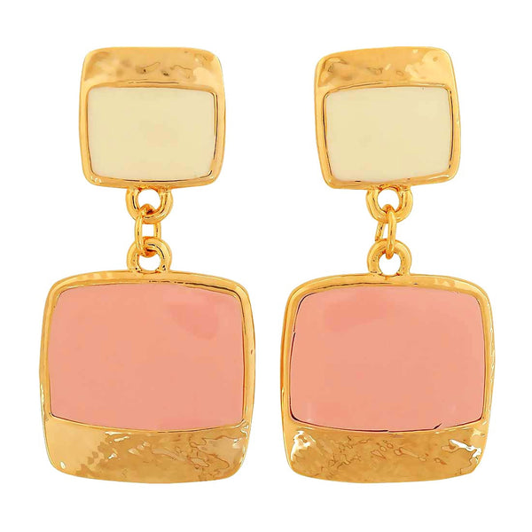 Special Pink Off-White Designer Party Drop Earrings - MCHUJE1OT30