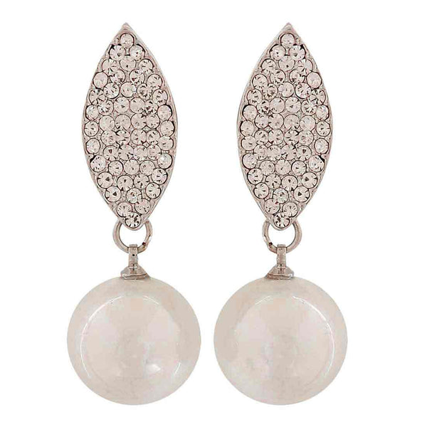Classic White Pearl Party Drop Earrings - MCHUJE1OT57