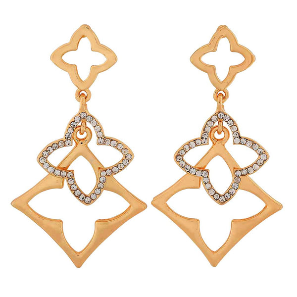 Amazing Gold Designer Party Drop Earrings - MCHUJE1OT84