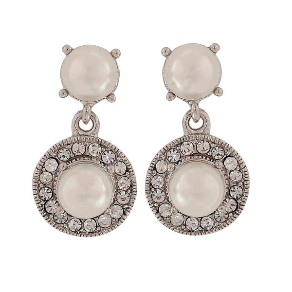 Sexy White Pearl Party Drop Earrings - MCHUJE1OT130
