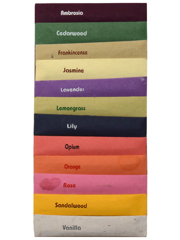 Set Of Twelve Incense Mini Sticks From Pondicherry - PPIST3SP1