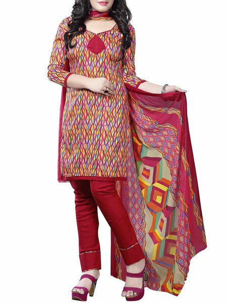Cotton Suit From Kolkata In Multicolour - FPKWA9AG79